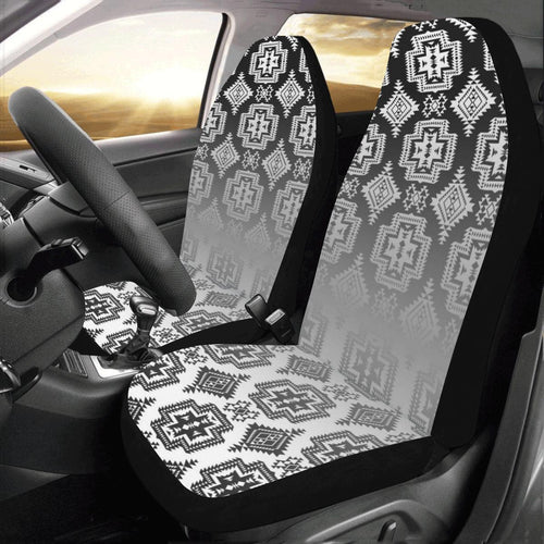 Pretty Blanket White and Black Trade Car Seat Covers (Set of 2) Car Seat Covers e-joyer