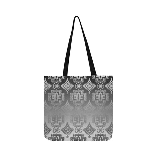 Pretty Blanket White and Black Trade Reusable Shopping Bag Model 1660 (Two sides) Shopping Tote Bag (1660) e-joyer