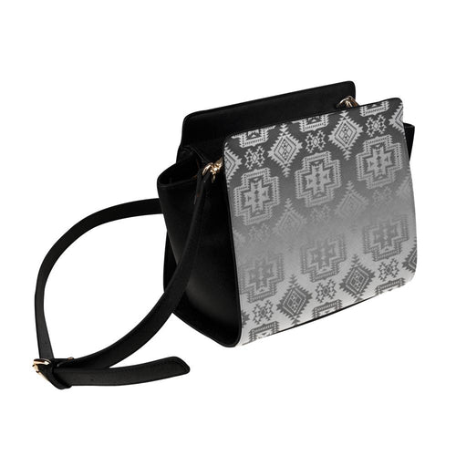 Pretty Blanket White and Black Trade Satchel Bag (Model 1635) Satchel Bag (1635) e-joyer