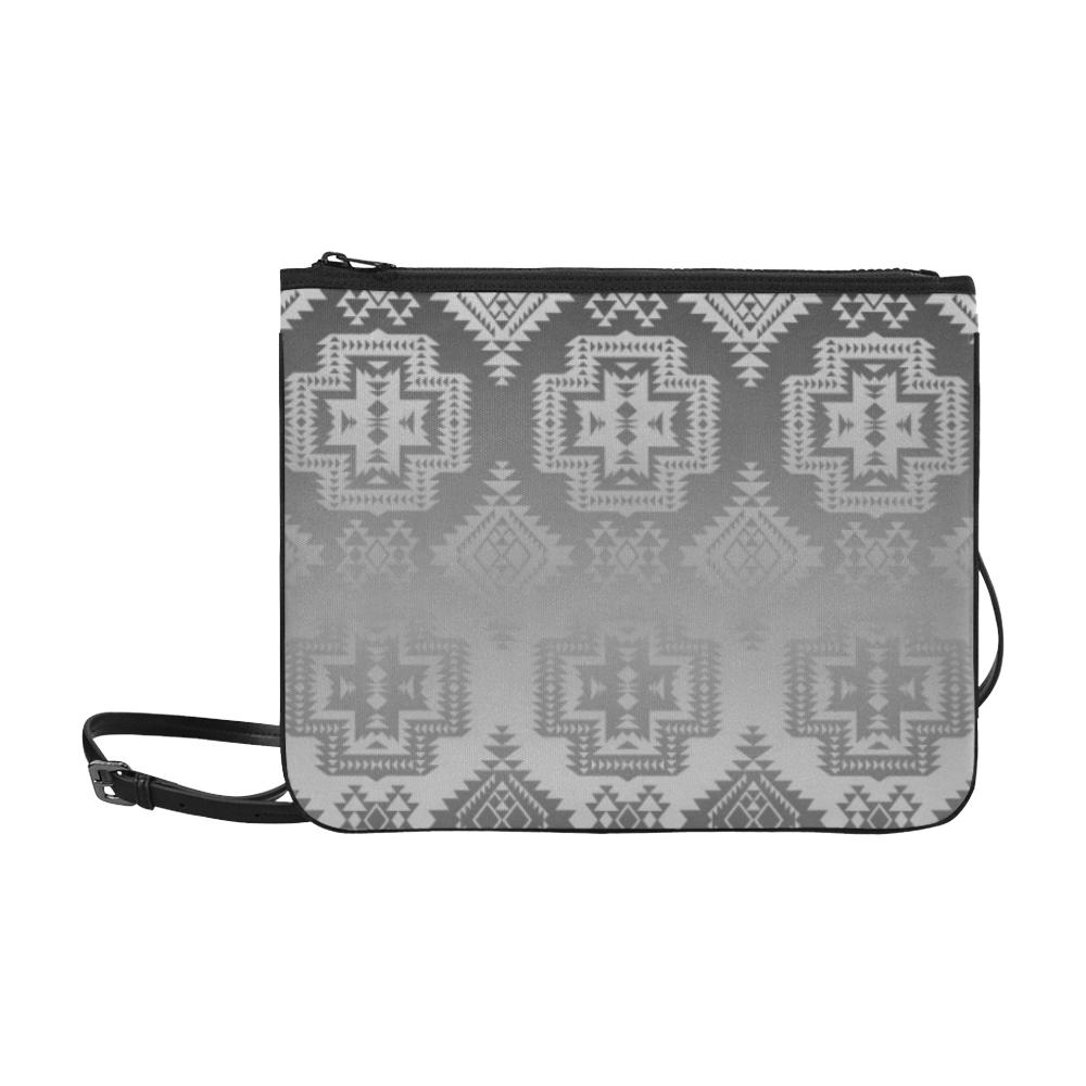 Pretty Blanket White and Black Trade Slim Clutch Bag (Model 1668) Slim Clutch Bags (1668) e-joyer