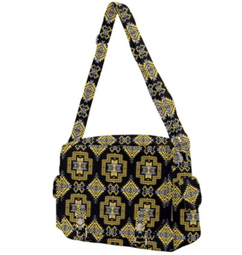Pretty Blanket Yellow Ocre Buckle Multifunction Bag 49 Dzine