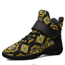 Pretty Blanket Yellow Ocre Kid's Ipottaa Basketball / Sport High Top Shoes 49 Dzine US Child 12.5 / EUR 30 Black Sole with Black Strap