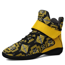 Pretty Blanket Yellow Ocre Kid's Ipottaa Basketball / Sport High Top Shoes 49 Dzine US Child 12.5 / EUR 30 Black Sole with Yellow Strap