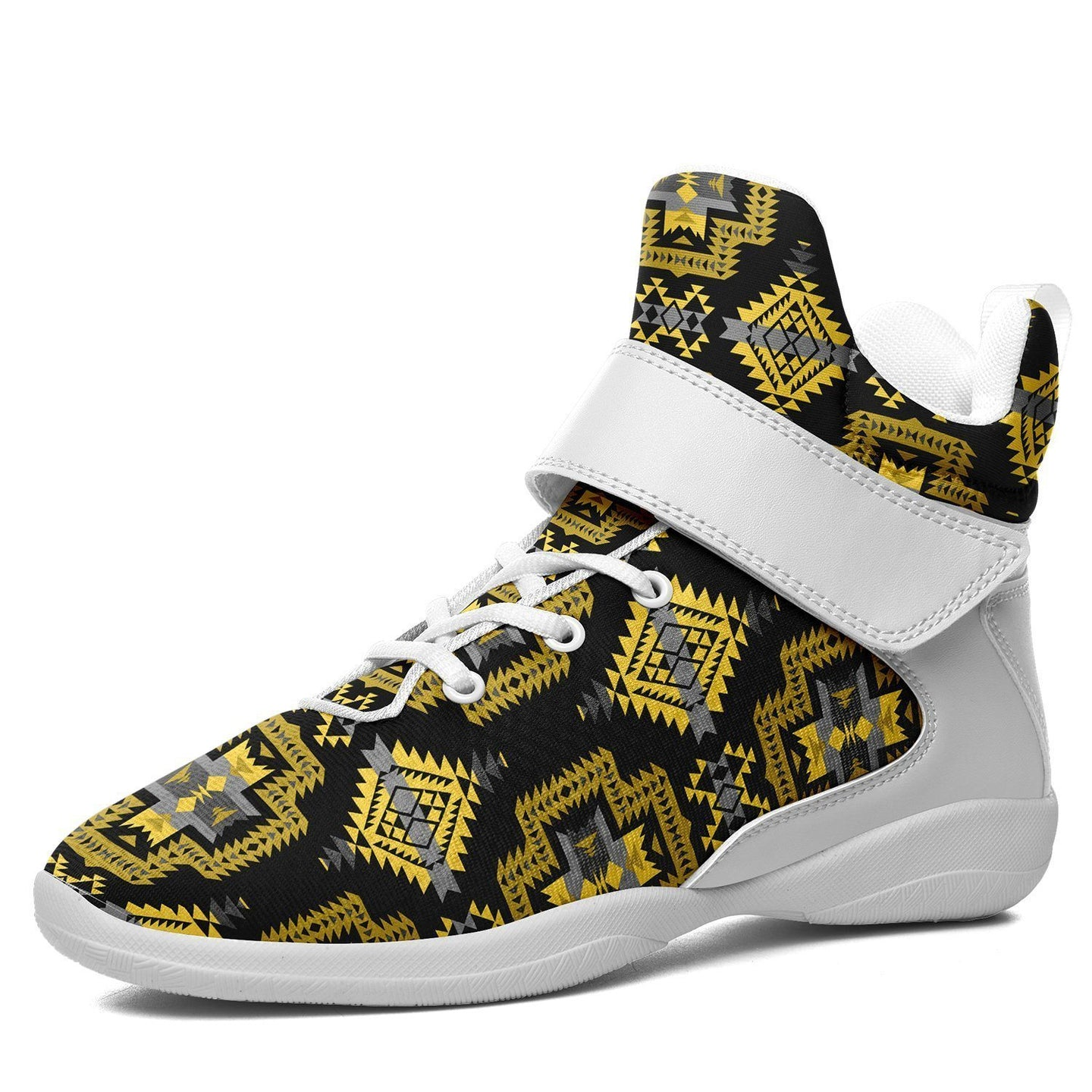 Pretty Blanket Yellow Ocre Kid's Ipottaa Basketball / Sport High Top Shoes 49 Dzine US Child 12.5 / EUR 30 White Sole with White Strap