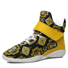 Pretty Blanket Yellow Ocre Kid's Ipottaa Basketball / Sport High Top Shoes 49 Dzine US Child 12.5 / EUR 30 White Sole with Yellow Strap
