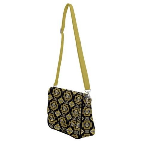 Pretty Blanket Yellow Ocre Shoulder Bag with Back Zipper 49 Dzine