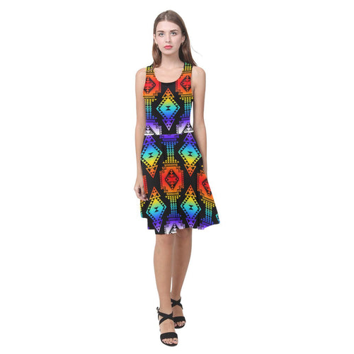 Rainbow Gathering Atalanta Casual Sundress(Model D04) Atalanta Sundress (D04) e-joyer