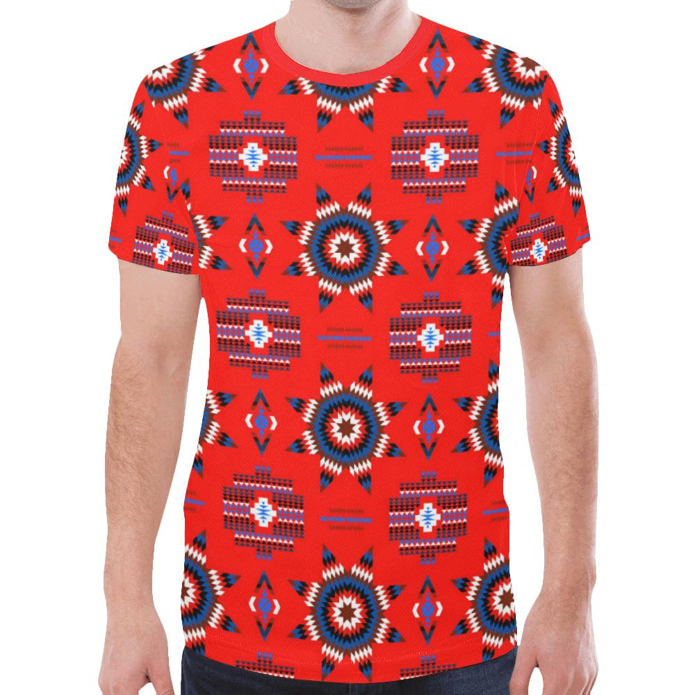 Rising Star Blood Moon New All Over Print T-shirt for Men/Large Size (Model T45) New All Over Print T-shirt for Men/Large (T45) e-joyer