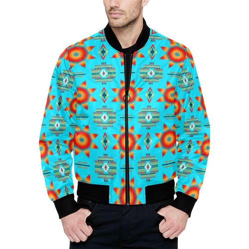 Rising Star Harvest Moon Unisex Heavy Bomber Jacket with Quilted Lining All Over Print Quilted Jacket for Men (H33) e-joyer