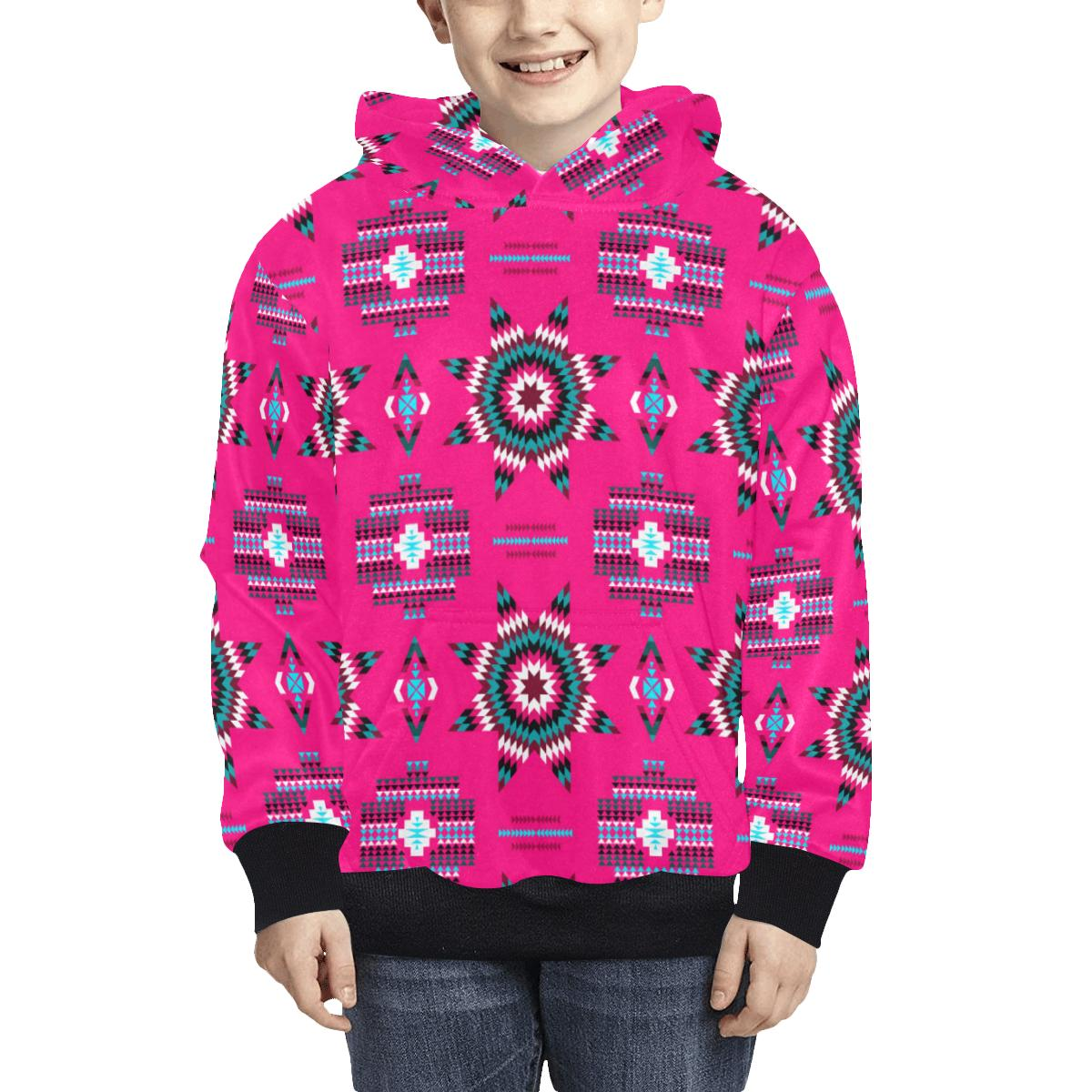 Rising Star Strawberry Moon Kids' All Over Print Hoodie (Model H38) Kids' AOP Hoodie (H38) e-joyer