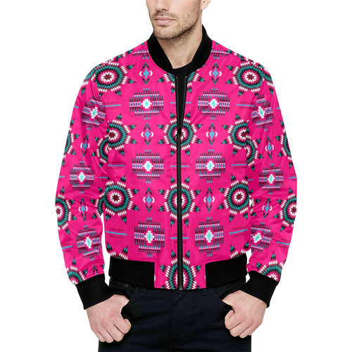Rising Star Strawberry Moon Unisex Heavy Bomber Jacket with Quilted Lining All Over Print Quilted Jacket for Men (H33) e-joyer