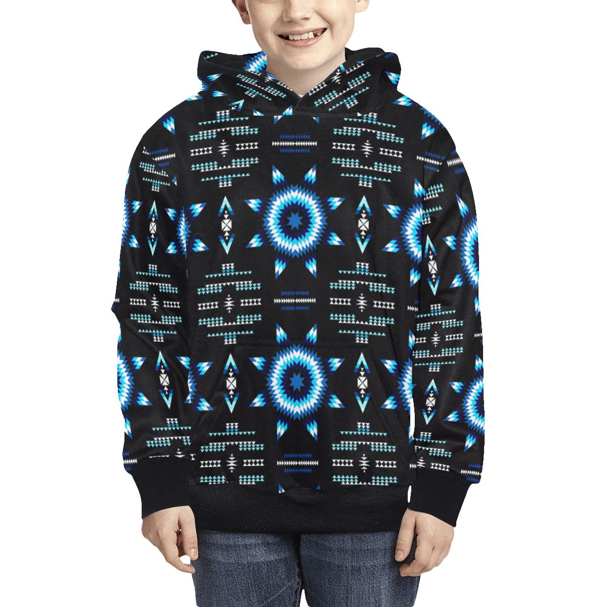 Rising Star Wolf Moon Kids' All Over Print Hoodie (Model H38) Kids' AOP Hoodie (H38) e-joyer