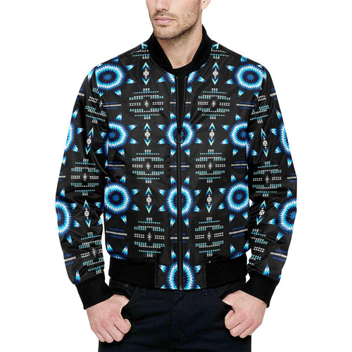 Rising Star Wolf Moon Unisex Heavy Bomber Jacket with Quilted Lining All Over Print Quilted Jacket for Men (H33) e-joyer