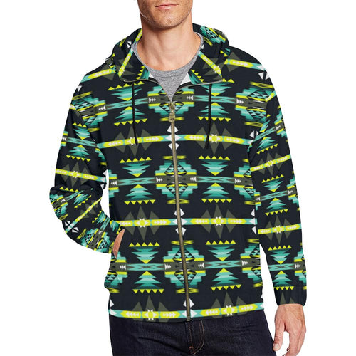 River Trail All Over Print Full Zip Hoodie for Men (Model H14) All Over Print Full Zip Hoodie for Men (H14) e-joyer