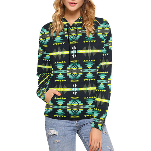 River Trail All Over Print Hoodie for Women (USA Size) (Model H13) All Over Print Hoodie for Women (H13) e-joyer