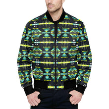 River Trail All Over Print Quilted Bomber Jacket for Men (Model H33) All Over Print Quilted Jacket for Men (H33) e-joyer