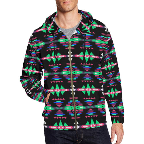 River Trail Journey All Over Print Full Zip Hoodie for Men (Model H14) All Over Print Full Zip Hoodie for Men (H14) e-joyer