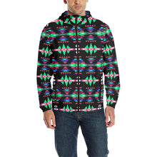 River Trail Journey Unisex Quilted Coat All Over Print Quilted Windbreaker for Men (H35) e-joyer