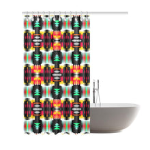 "Sage Fire and Sky Shower Curtain 72""x84"" Shower Curtain 72""x84"" e-joyer"