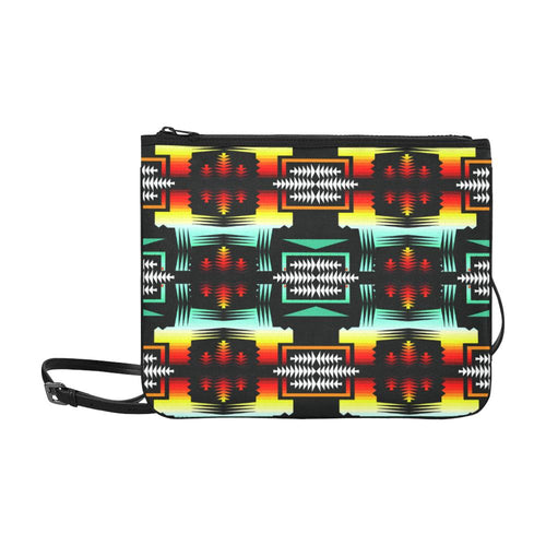 Sage Fire and Sky Update Slim Clutch Bag (Model 1668) Slim Clutch Bags (1668) e-joyer