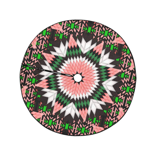 Salmon Pink Star Christmas Tree Skirt 47