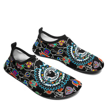 SDP Indigenous Paisley Black Sockamoccs Slip On Shoes Herman
