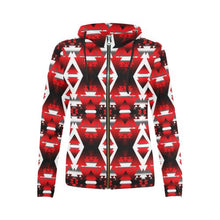 Sierra Winter Camp All Over Print Full Zip Hoodie for Women (Model H14) All Over Print Full Zip Hoodie for Women (H14) e-joyer