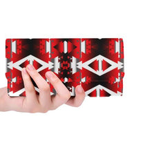 Sierra Winter Camp Women's Trifold Wallet (Model 1675) Women's Trifold Wallet e-joyer