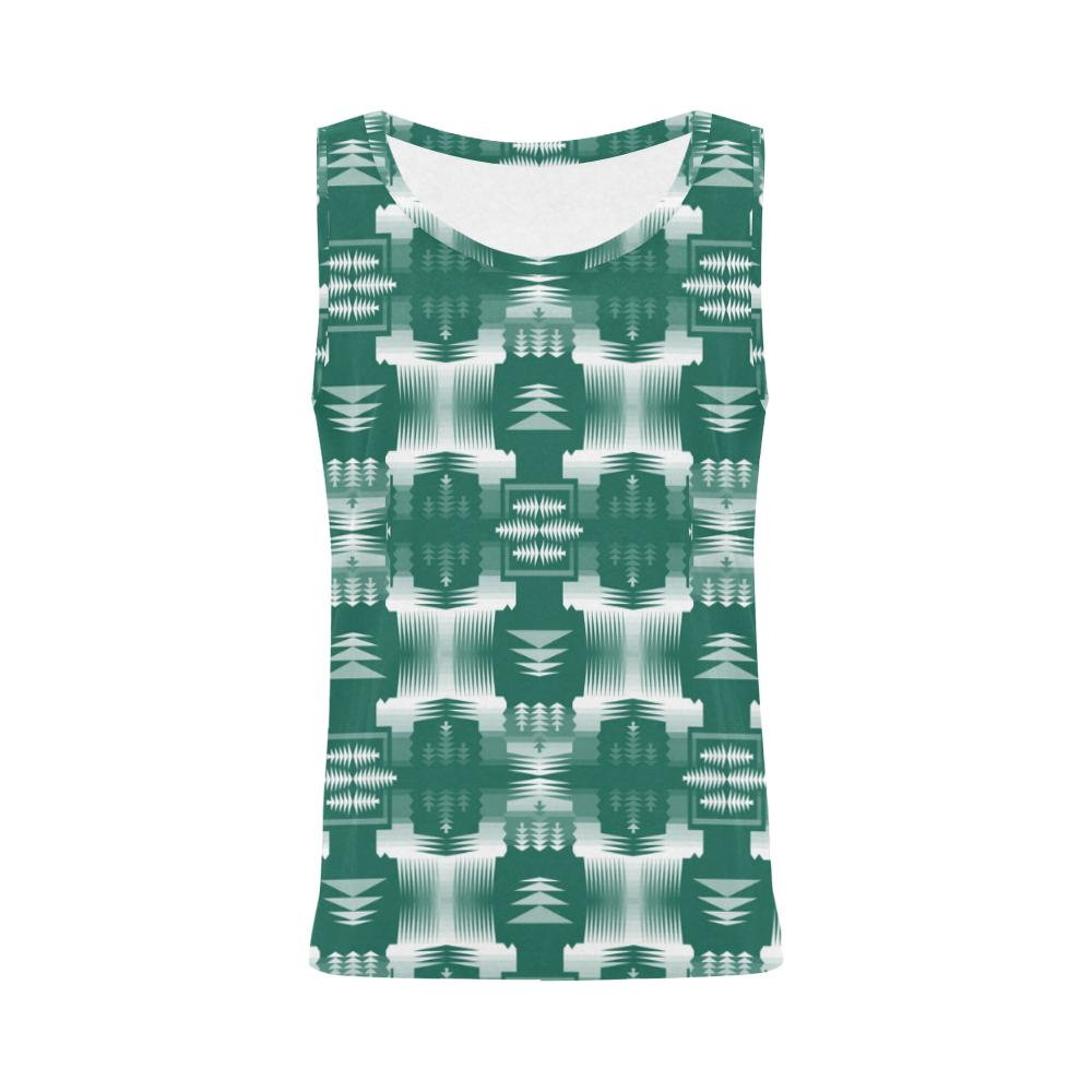 Small Print Deep Lake Gray All Over Print Tank Top for Women (Model T43) All Over Print Tank Top for Women e-joyer