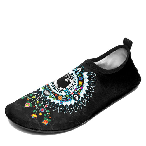 Social Distance Powwow Sockamoccs Kid's Slip On Shoes Herman