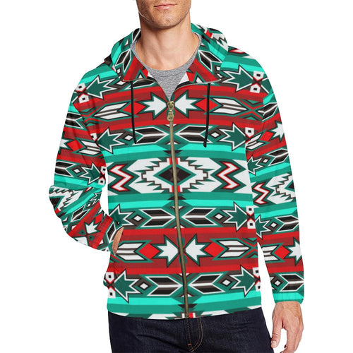 Southwest Journey All Over Print Full Zip Hoodie for Men (Model H14) All Over Print Full Zip Hoodie for Men (H14) e-joyer