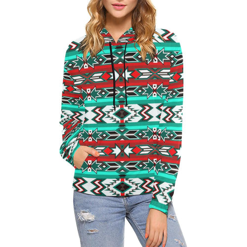 Southwest Journey All Over Print Hoodie for Women (USA Size) (Model H13) All Over Print Hoodie for Women (H13) e-joyer
