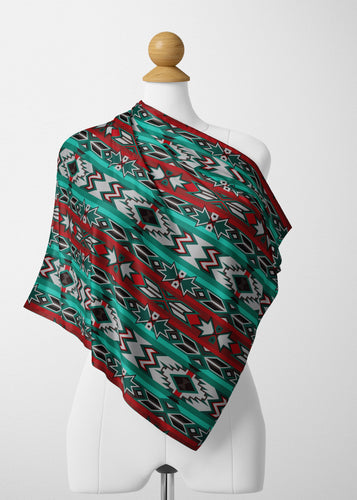 Southwest Journey Satin Shawl Scarf 49 Dzine
