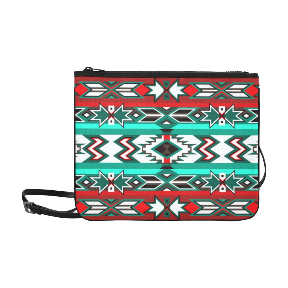 Southwest Journey Slim Clutch Bag (Model 1668) Slim Clutch Bags (1668) e-joyer