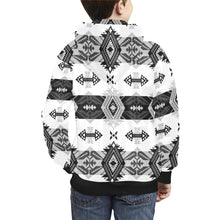 Sovereign Nation Black and White Kids' All Over Print Hoodie (Model H38) Kids' AOP Hoodie (H38) e-joyer