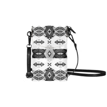 Sovereign Nation Black and White Small Cell Phone Purse (Model 1711) Small Cell Phone Purse (1711) e-joyer