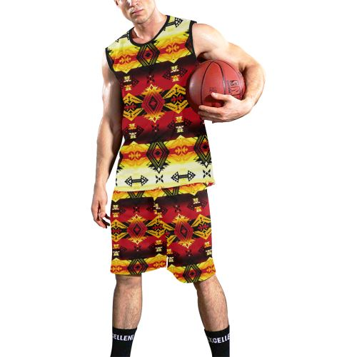 Sovereign Nation Fire All Over Print Basketball Uniform Basketball Uniform e-joyer