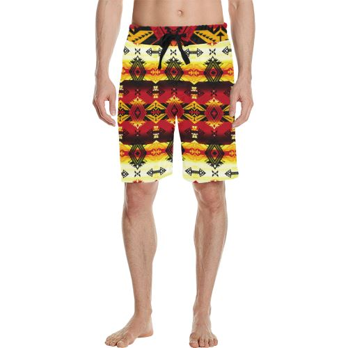 Sovereign Nation Fire Men's All Over Print Casual Shorts (Model L23) Men's Casual Shorts (L23) e-joyer
