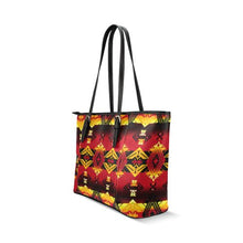 Sovereign Nation Fire Tote Bag/Large (Model 1640) Leather Tote Bag (1640) e-joyer
