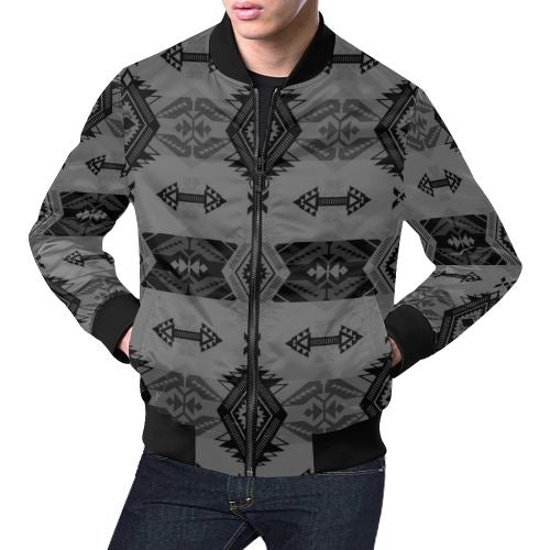 Sovereign Nation Gray All Over Print Bomber Jacket for Men/Large Size (Model H19) All Over Print Bomber Jacket for Men/Large (H19) e-joyer
