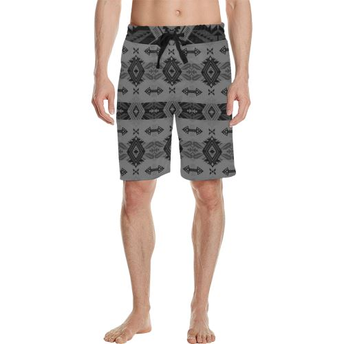 Sovereign Nation Gray Men's All Over Print Casual Shorts (Model L23) Men's Casual Shorts (L23) e-joyer