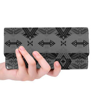 Sovereign Nation Gray Women's Trifold Wallet (Model 1675) Women's Trifold Wallet e-joyer