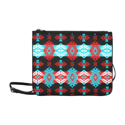 Sovereign Nation Trade Blanket v2 Slim Clutch Bag (Model 1668) Slim Clutch Bags (1668) e-joyer