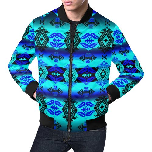 Soveriegn Nation Midnight All Over Print Bomber Jacket for Men/Large Size (Model H19) All Over Print Bomber Jacket for Men/Large (H19) e-joyer