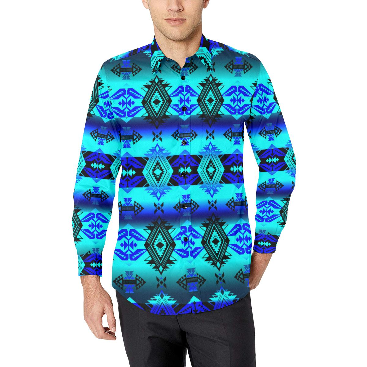 Soveriegn Nation Midnight Men's All Over Print Casual Dress Shirt (Model T61) Men's Dress Shirt (T61) e-joyer