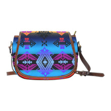 Soveriegn Nation Sunset Saddle Bag/Small (Model 1649) Full Customization Saddle Bag/Small (Full Customization) e-joyer