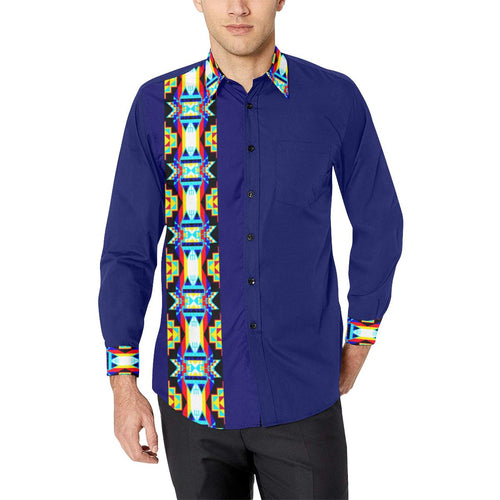 Strip for Shirt Men's All Over Print Casual Dress Shirt (Model T61) Men's Dress Shirt (T61) e-joyer