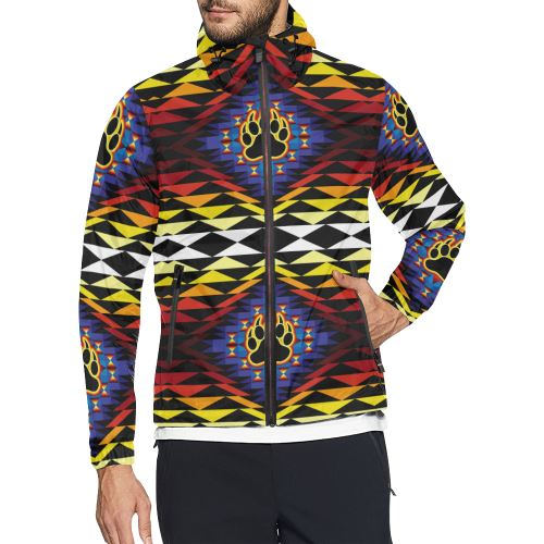 Sunset Bearpaw All Over Print Windbreaker for Men (Model H23) All Over Print Windbreaker for Men (H23) e-joyer