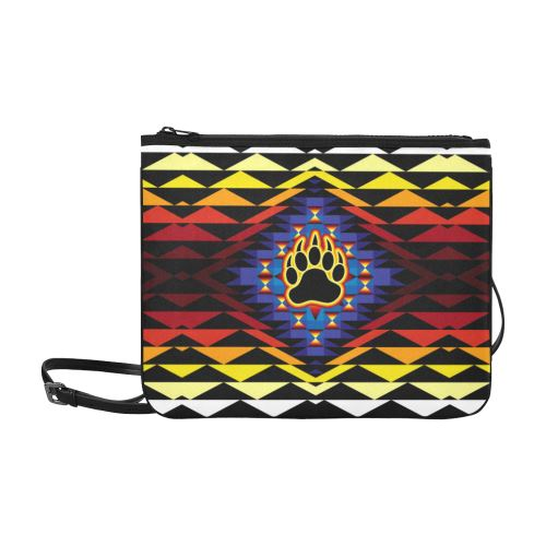 Sunset Bearpaw Blanket Slim Clutch Bag (Model 1668) Slim Clutch Bags (1668) e-joyer
