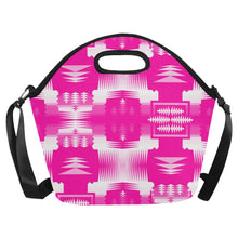 Sunset Sage Large Insulated Neoprene Lunch Bag That Replaces Your Purse (Model 1669) Neoprene Lunch Bag/Large (1669) e-joyer